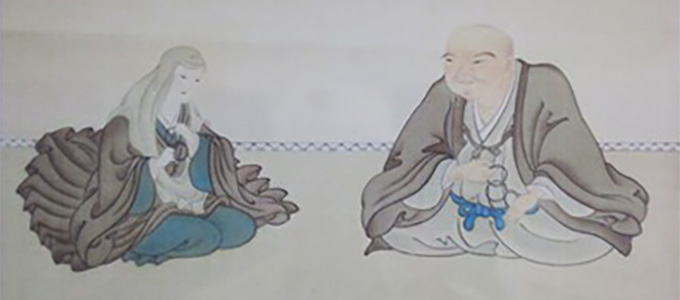 三井高利夫婦像