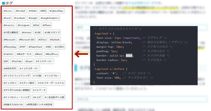 WordPressタグクラウドの設置方法を解説!カスタマイズ初級編