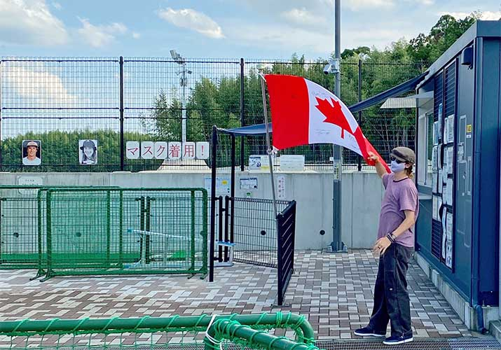東京オリンピックから正式種目に加わったスケートボード!松阪市総合運動公園スケートパークで事前合宿中のカナダ代表チームの練習を見学